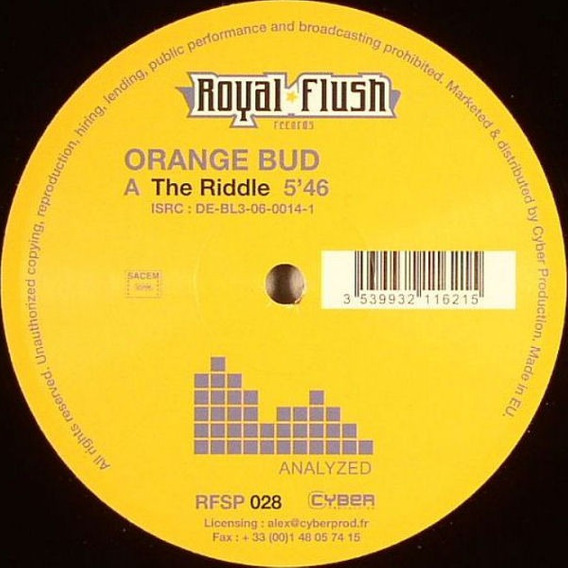 Lp Vinil Orange Bud - The Riddle / Track Two Eletro House