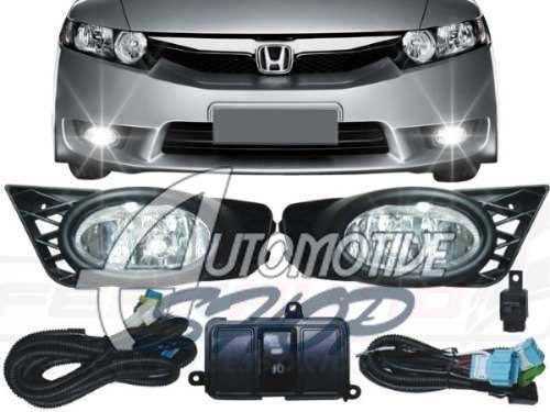 Imagem 1 de 4 de Automotive Shop Milha/farol Aux Honda Civic 09/11 Botão Orig