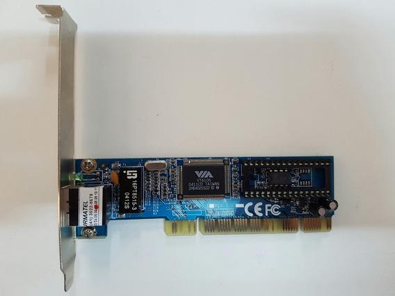 Placa De Rede Pci Via Vt6105 Ethernet