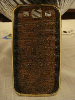 Capa Case Celular Samsuns S3 I9300 Dourado Brilho