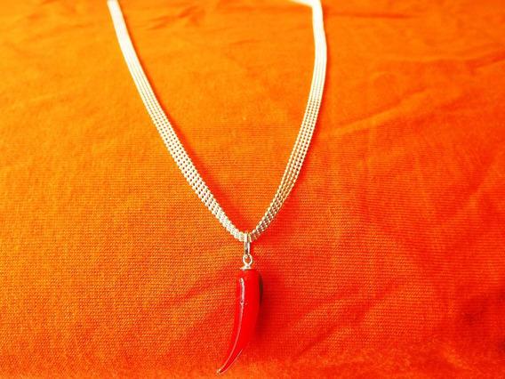 Cordão Em Prata Maciça 50cm Com Pg Murano