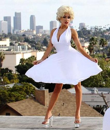 Vestido Marilyn Monroe Talles Xs Al Xxxxxxxl Falda Md