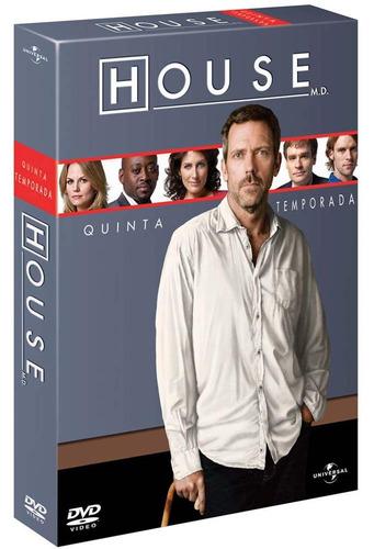 House 5ª Temporada - Box Com 6 Dvds - Hugh Laurie  Omar Epps