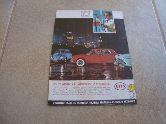 Propaganda Antiga Esso 1962 Posto Oleo Texaco Mobil Fusca 1