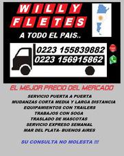 Fletes Y Mudanzas En Mar Del Plata Y Hacia Todo El País !!