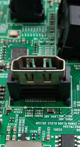 Conector Hdmi Fêmea Em Pé Tv Samsung Un50hu7000g #lhd
