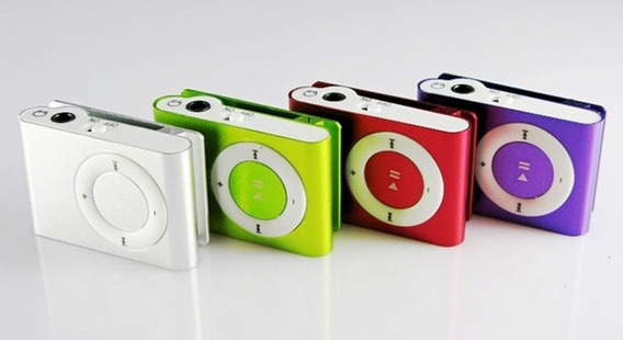 Mini Mp3 Player Metal Com Clip + Fone + Cabo