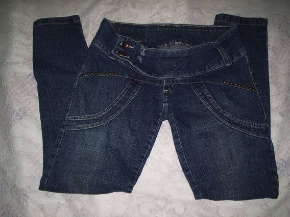 Calça Jeans Escuro Feminina Tamanho 36
