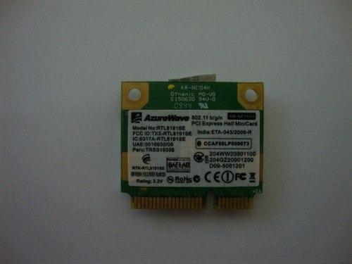 Placa De Rede Wireless Do Notebook Itautec W7410 / W7415