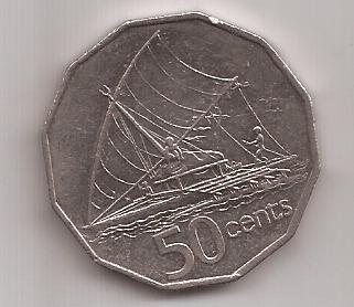 Fiji Moneda De 50 Cents Año 1990 !!