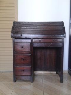 Escrivaninha Antiga Em Peroba Rosa
