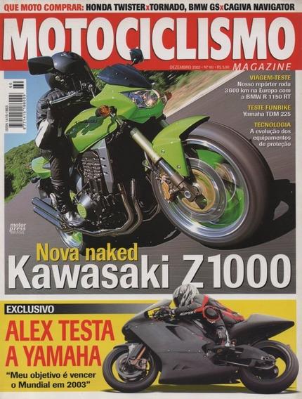 Motociclismo N°60 Yamaha Tdm 225 Kawasaki Z1000 Bmw R1150 Rt