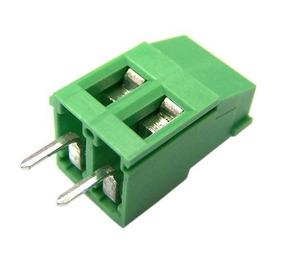 Kit 100pçs Conector Borne Verde Fêmea 2 Vias Pronta Entrega