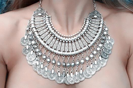 Poderoso E Lindo Colar Em Liga De Zinco - Fashion Jewelry