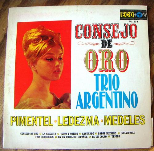 Tango, Trio Argentino ( Consejo De Oro ), Lp 12´, Css