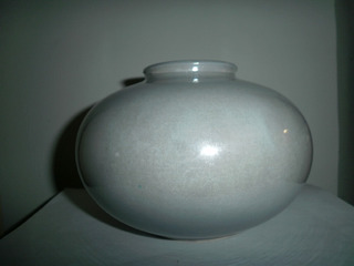 Jarron Vintage De Ceramica Color Gris De West Germany