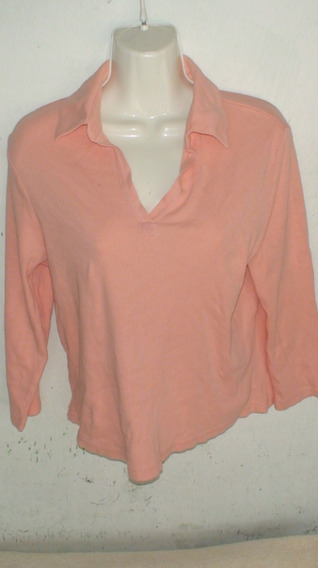 Blusa Manga Larga Color Salmon
