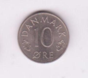Dinamarca 1976 Moneda De 10 Ore
