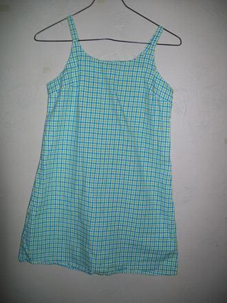 Lindo Vestido De Niña Verde A Cuadros Talla 10