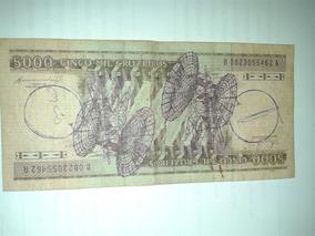 Cédula Cinco Mil Cruzeiros Apriscada