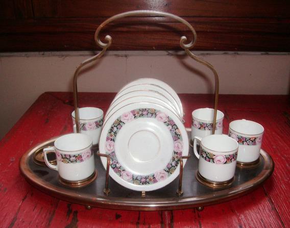 Antiguo Juego Tazas De Café De Porcelana ¨bavaria¨
