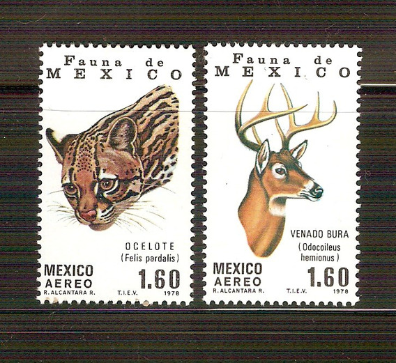 1978 Fauna De Mèxico Aereo Ocelote - Venado Bura Nuevos