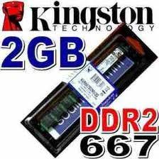 50 Memorisa Ram 2 Gb, Ddr2 667 Mhz Pc2-5300 Kingston Para Pc