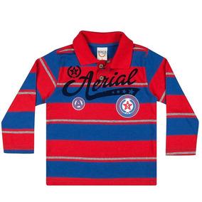 21774d6759 Camiseta Infantil Menino Longa Polo Aerial - Boca Grande