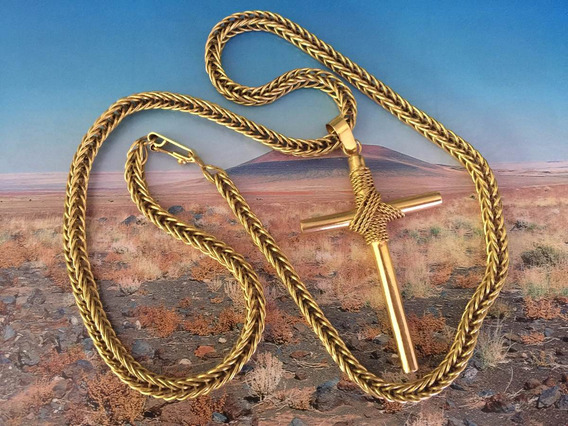 Corrente C/pingente Ouro 18k-750-85.7gr.66.8cm.-nova.