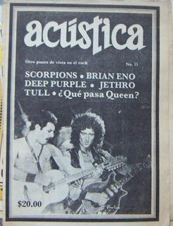 Revista Acustica,scorpions,deep Purple,jethro 1983