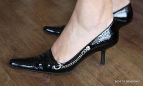 Gacel Cuero Charol Cadena Zapato Reina 37