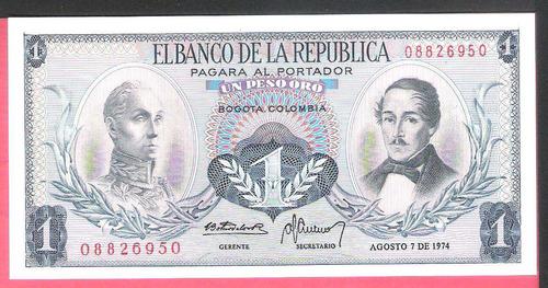 Imagen 1 de 2 de Billete De 1 Peso  Colombia