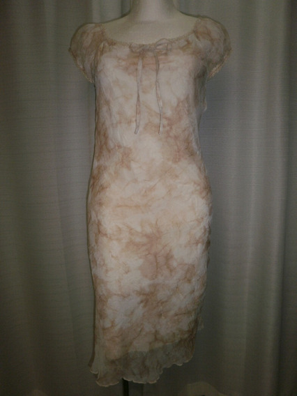Vestido T.30, Tono Arena, Corrugado, Louis Fashion