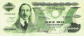 Ensaio Cédula 10 Mil Cruzeiros Santos Dumont Não Circulada
