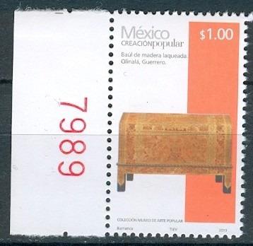 Sc 2489 Año 2013 Creacion Popular Baul De Madra Laqueada 1 P