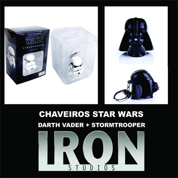 Chaveiro Star Wars Stormtrooper + Darth Vader- Iron Studios