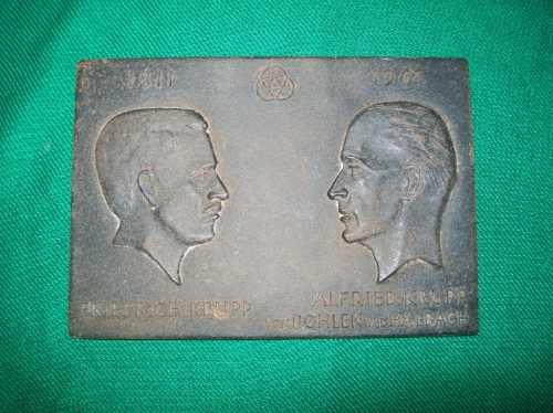 Imagen 1 de 1 de Antigua Placa De Metal Hecha En Alemania Friedrich Krupp