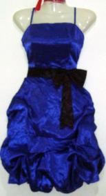 Vestido Fiesta Aglobado Burdeo / Azul Nuevo Talla M