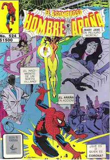 Ganga Comic Hombre Araña Spiderman Rm4
