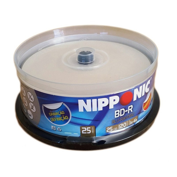 100 Mídias Nipponic Blu-ray 25gb 6x Printable Lacrado Bd-r