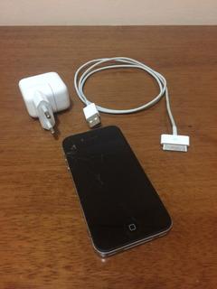 iPhone 4s 16gb Preto Original Desbloqueado (tela Trincada)