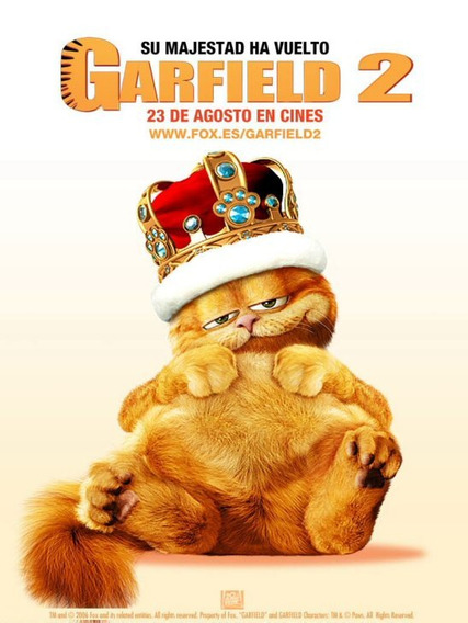 Garfield 2 Pelicula Seminueva