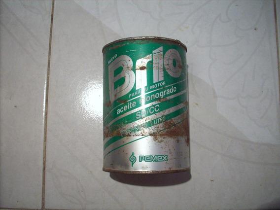 Antiguo Bote De Aceite Marca Brio No Subasta Baul R.