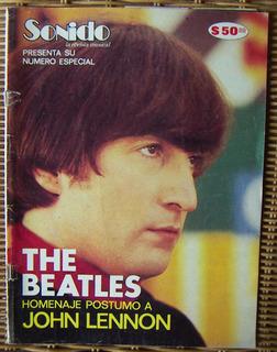 Revista Sonido, The Beatles, Homenaje Postumo A John Lennon