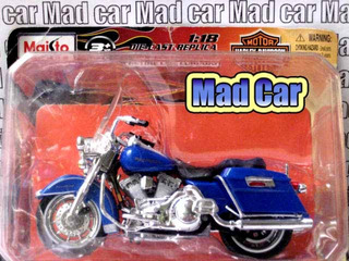 Mc Mad Car 1/18 Moto Harley Davidson Coleccion Escala