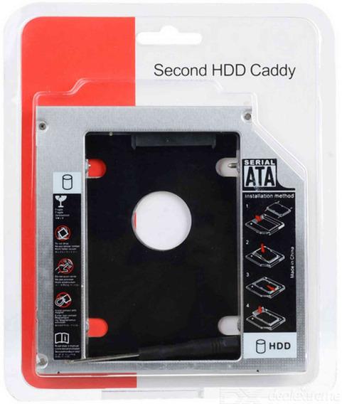Adaptador Caddy 9,5mm Segundo Hd Ssd Sata Para Notebook