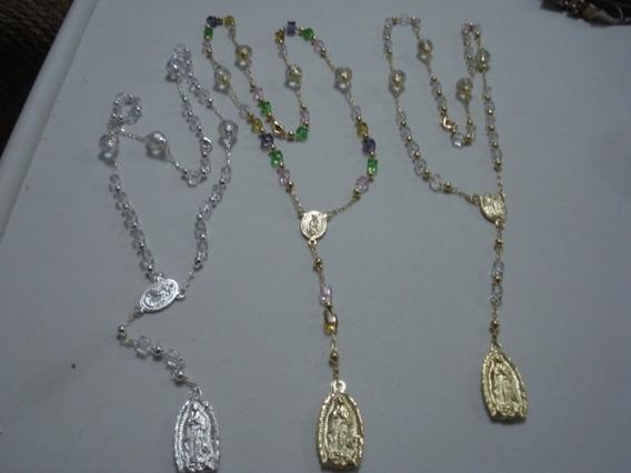 Rosarios De Virgen De Guadalupe Cristal Variedad Colore