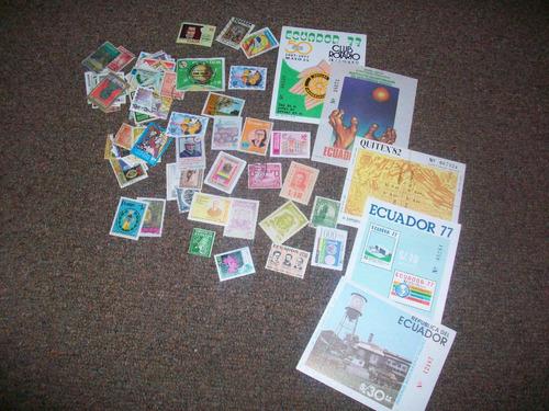 Imagen 1 de 2 de Ecuador, Antiguas Estampillas 65 Unidades + 5 Souvenirs