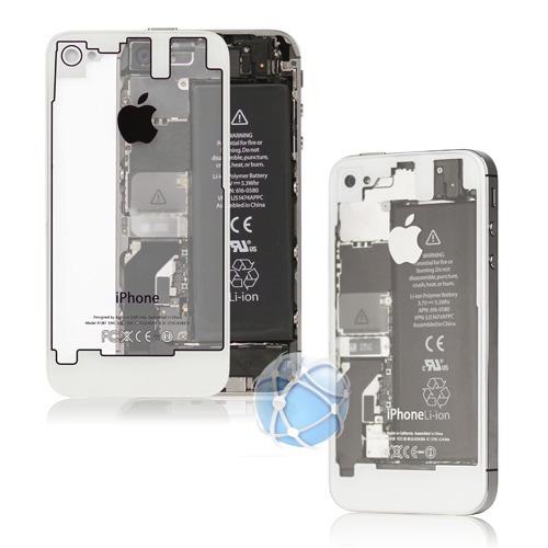 48b298b82ee Tapa De Bateria iPhone 4/4s Blanco Negr Transparente Carcasa - $ 149.00 en  Mercado Libre