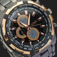 Moda Ouro Dial Quartz Relógios Analógicos Nc03